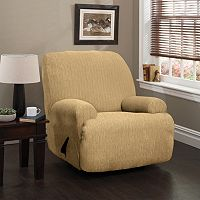 Heather Stripe Stretch Jumbo Recliner Slipcover