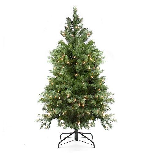 4-ft. Pre-Lit Artificial Noble Fir Christmas Tree
