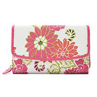 Croft & Barrow® RFID-Blocking Floral Checkbook Holder Clutch