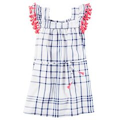 Girls 4-8 Carter's Tassel Trim Plaid Dress