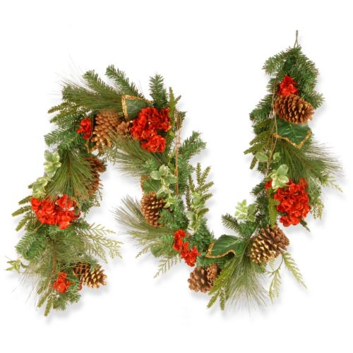 National Tree Company 6-ft. Artificial Hydrangea Pine Christmas Garland
