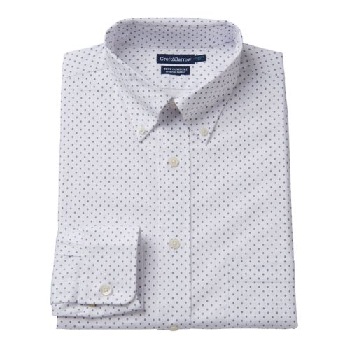 Men's Croft & Barrow® True Comfort Regular-Fit Dress Shirt