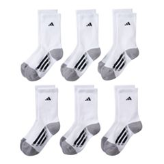 Boys adidas 6-Pack ClimaLite Crew Socks