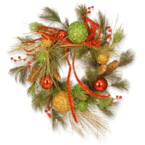 "National Tree Company 20"" Ornament Artificial Holiday Christmas Wreath"