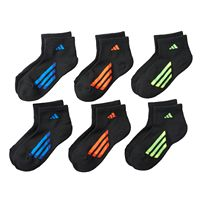 Boys adidas 6-Pack ClimaLite Quarter-Cut Socks