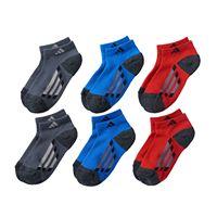 Boys adidas 6-Pack ClimaLite Low-Cut Socks