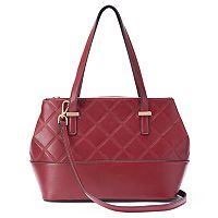 La Diva Penelope Triple Entry Quilted Satchel