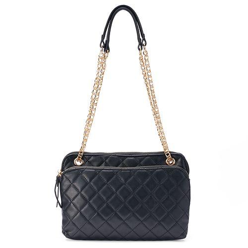 83de34a3cc La Diva Faye Convertible Chain Strap Crossbody Bag