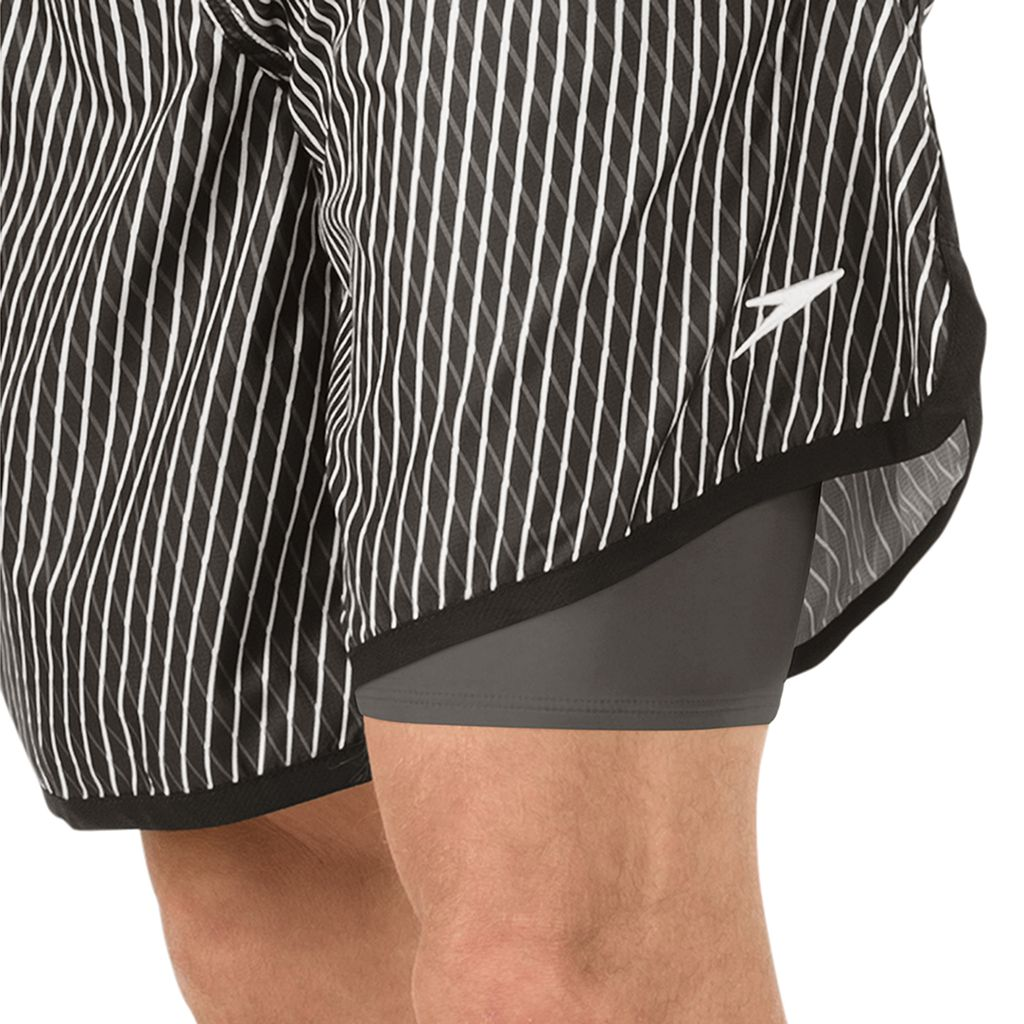 Men's Speedo Grid Aqua Volley Jammer Swim Shorts