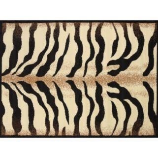 United Weavers Legends Stripe Zebra Print Rug - 5'3'' x 7'2''