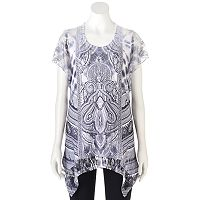 Women's World Unity Embellished Lace Tee