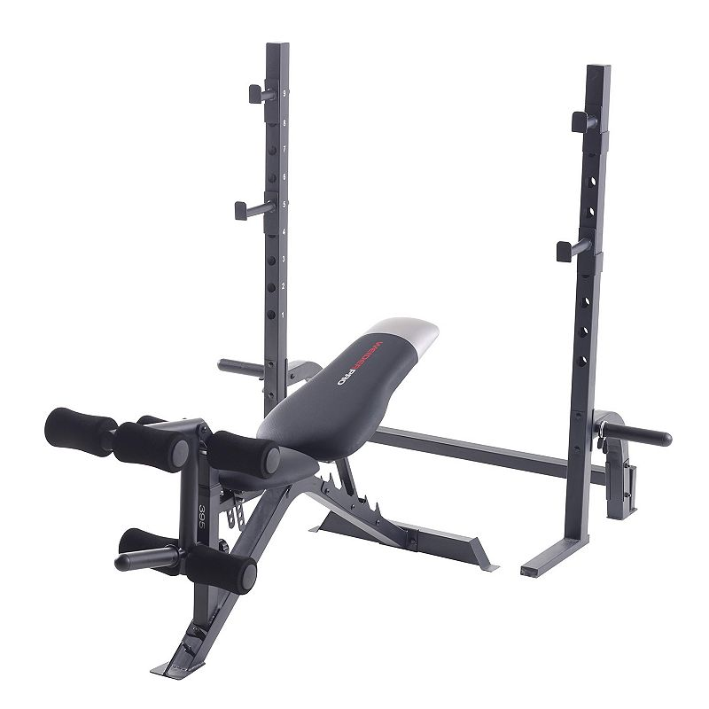 Weider Pro 395 Olympic Weight Bench, Black