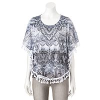 Women's World Unity Embellished Tassel Top