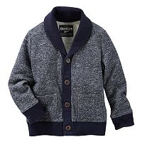 Boys 4-12 OshKosh B'gosh® Marled French Terry Shawl-Collar Cardigan