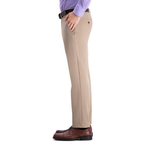 Men's Haggar® Cool 18® PRO Straight-Fit Wrinkle-Free Flat-Front Super Flex Waist Pants