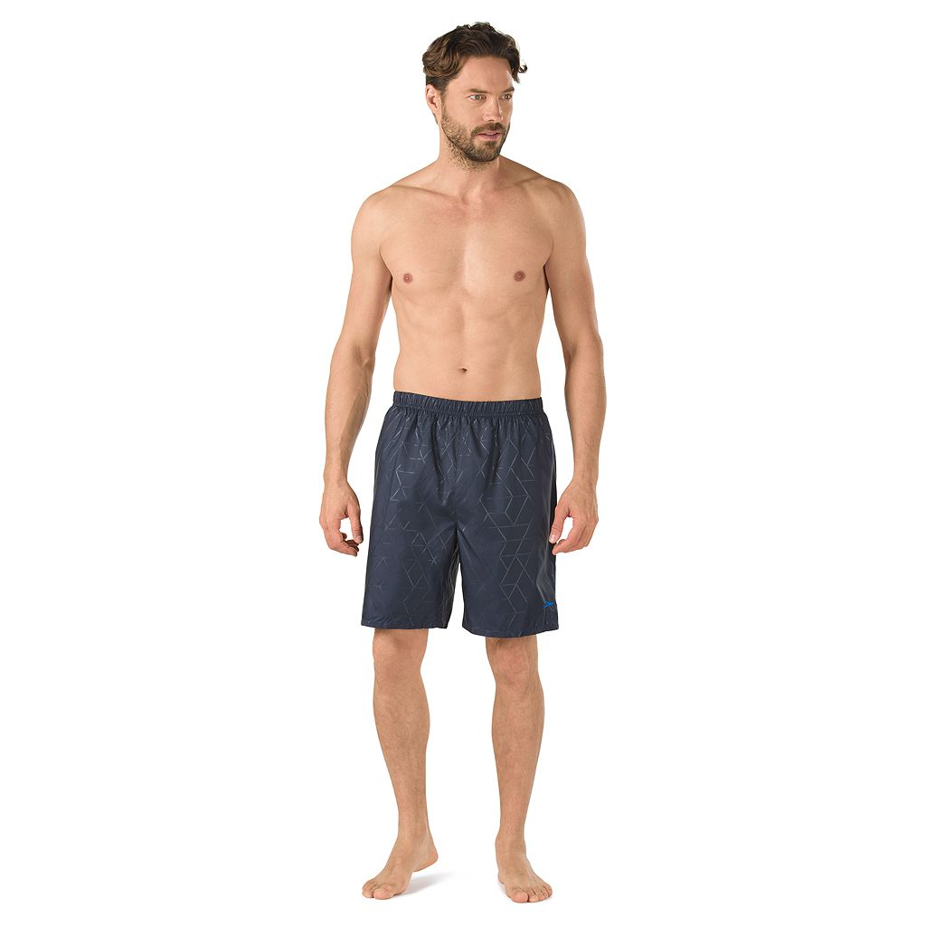 Men's Speedo Geometric Tech Stretch Volley Swim Shorts