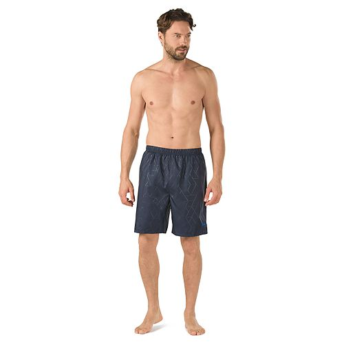 add795e27b41e Men's Speedo Geometric Tech Stretch Volley Swim Shorts
