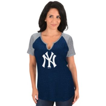 Women's Majestic New York Yankees Burnout Tee