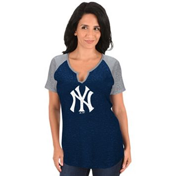 Women's Majestic New York Yankees Burnout Tee