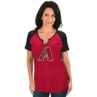 Women's Majestic Arizona Diamondbacks Burnout Tee