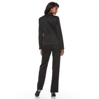 Women's Le Suit Pinstripe Suit Jacket & Pants Set