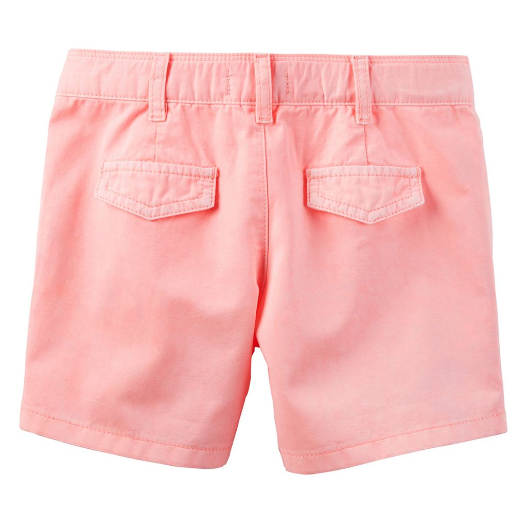 Girls 4-8 Carter's Twill Shorts