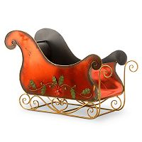 National Tree Company 38-in. Red Metal Sleigh Christmas Decor