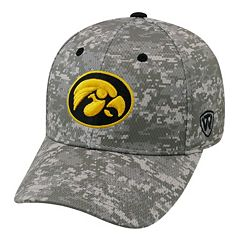 Adult Top of the World Iowa Hawkeyes Digital Camo One-Fit Cap