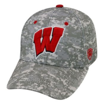 Adult Top of the World Wisconsin Badgers Digital Camo One-Fit Cap