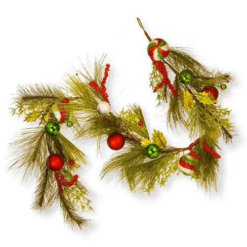 National Tree Company 6-ft. Artificial Bristle Christmas Ornament Garland