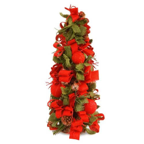 National Tree Company 20-in. Burlap Bow & Bells Christmas Tree