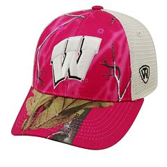 Adult Top of the World Wisconsin Badgers Doe Camo Adjustable Cap