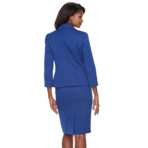 Women's Le Suit Geometric Jacquard Jacket & Skirt Set