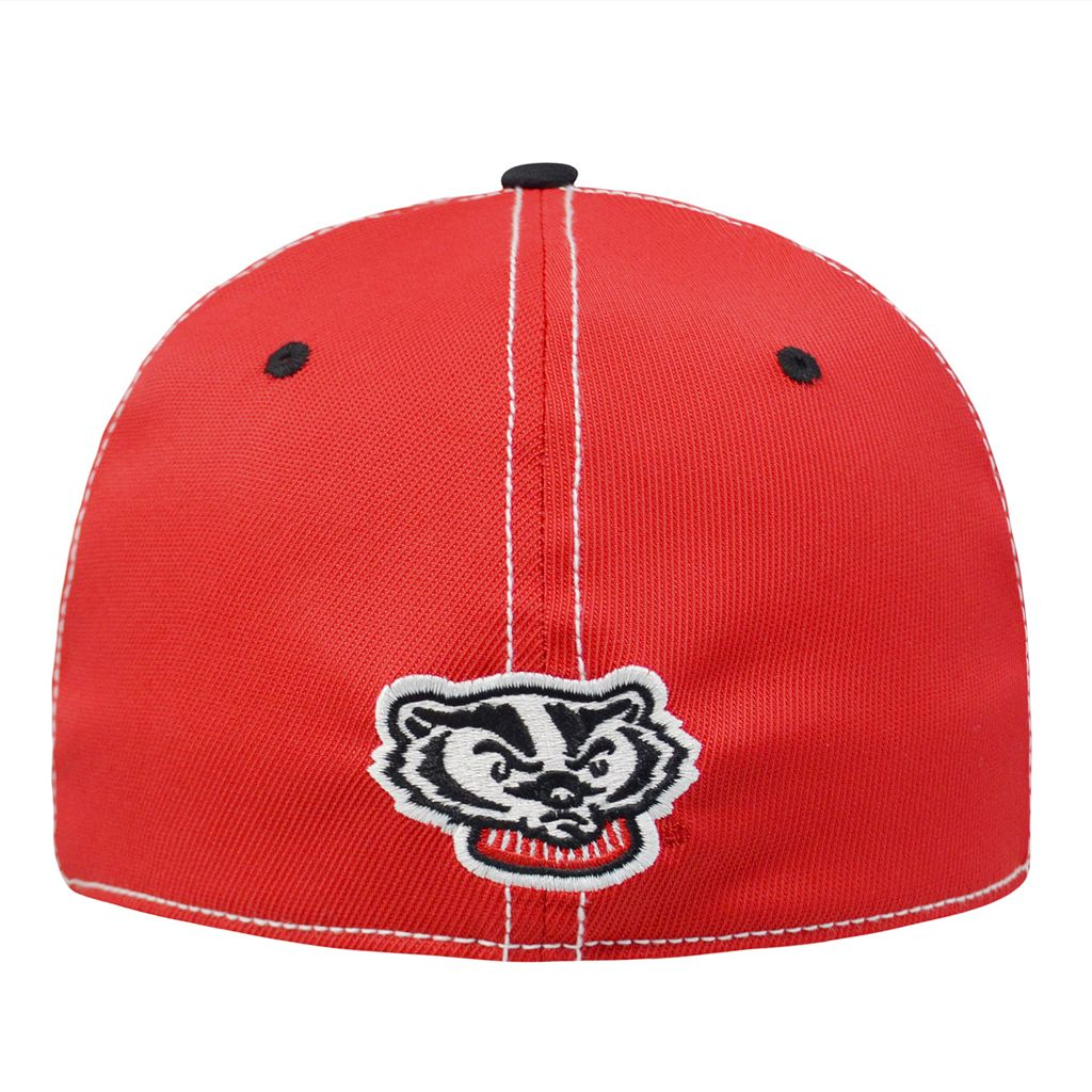 Adult Top of the World Wisconsin Badgers Tactile One-Fit Cap