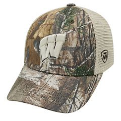 Adult Top of the World Wisconsin Badgers Prey Camo Adjustable Cap