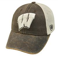 Adult Top of the World Wisconsin Badgers Scat Adjustable Cap