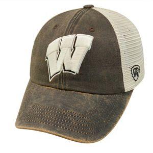 Adult Top of the World Wisconsin Badgers Scat Adjustable Cap