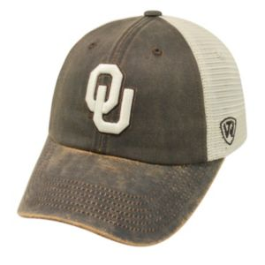 Adult Top of the World Oklahoma Sooners Scat Adjustable Cap
