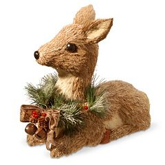 National Tree Company 15 in Resting Deer Decor