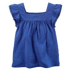 Girls 4-8 Carter's Slubbed Pom Tee