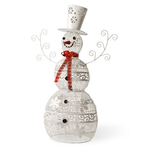 National Tree Company 36-in. Metal Snowman Decor