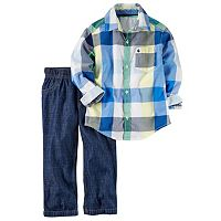 Baby Boy Carter's Plaid Shirt & Jeans Set