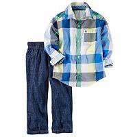 Baby Boy Carter's Plaid Shirt & Jeans Set