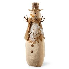 National Tree Company 15.5-in. Rustic Snowman Table Decor