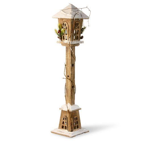 "National Tree Company 32"" Wooden Street Lamp Floor Decor"