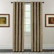 Arlee Blackout 1-Panel Eagan Jacquard Blackout Window Curtain