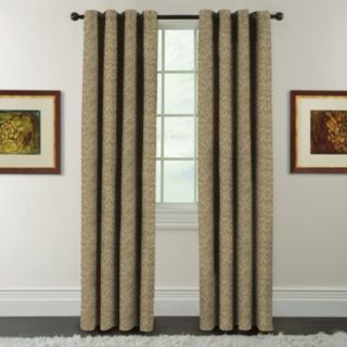 Arlee Blackout 1-Panel Eagan Jacquard Blackout Window Curtain