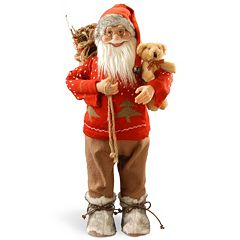 National Tree Company 24' Standing Santa Table Decor