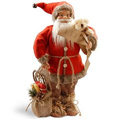 National Tree Company 17.7' Standing Santa in Jolly Elf Outfit Table Decor