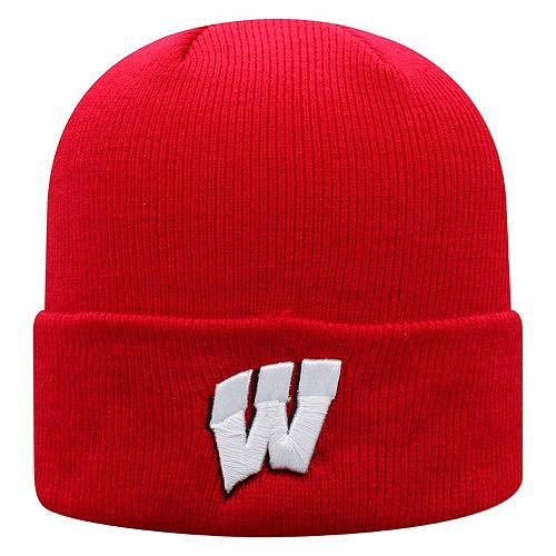 Adult Top of the World Wisconsin Badgers Tow Knit Beanie